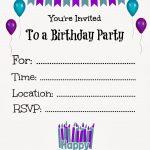 Free Printable Birthday Invitations For Kids #freeprintables   Free Online Printable Invitations