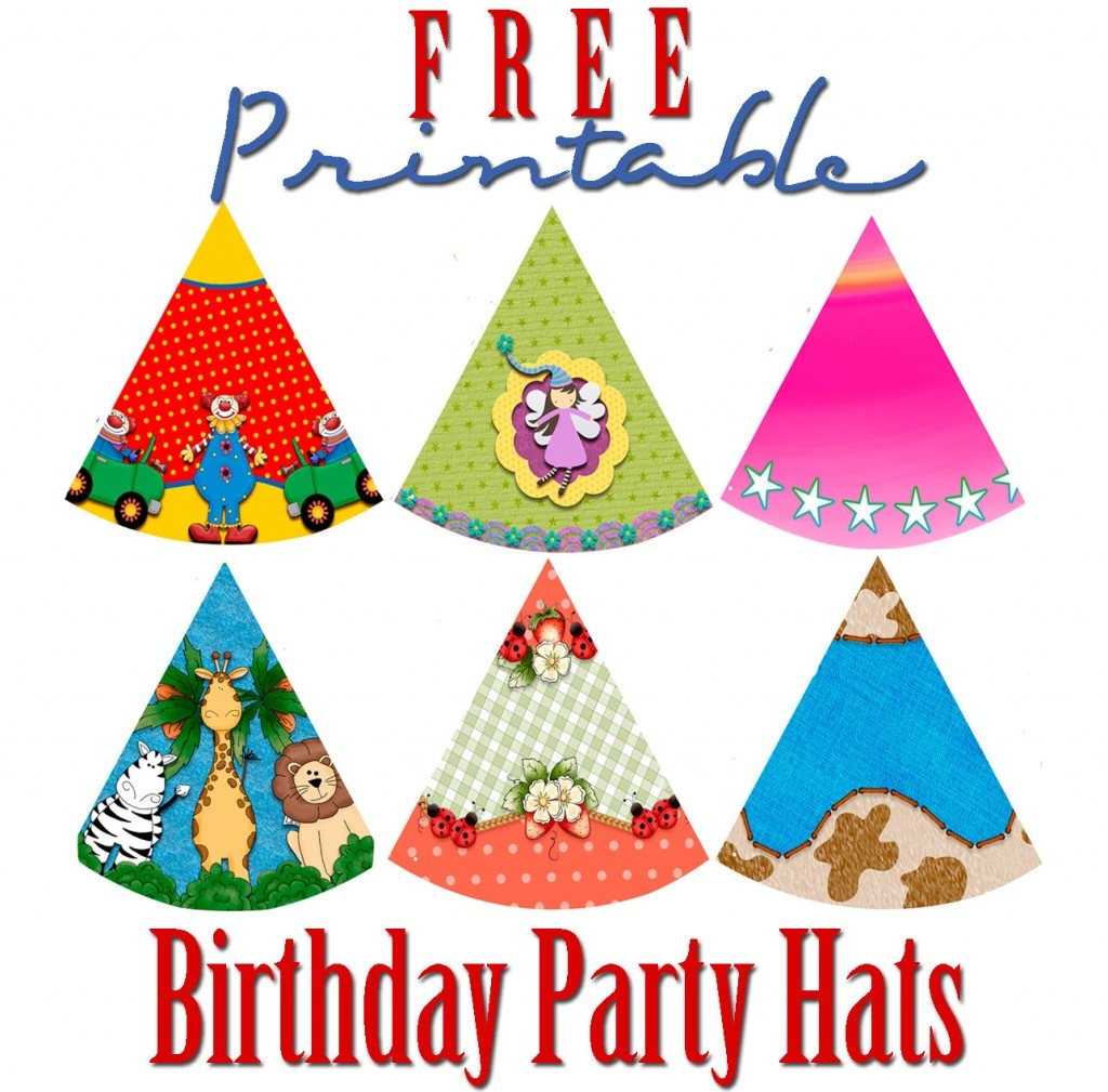 Free Printable Birthday Party Hats | Hubpages - Free Printable Birthday Party Hats