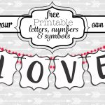 Free Printable Black And White Banner Letters | Diy Swank   Free Printable Banners