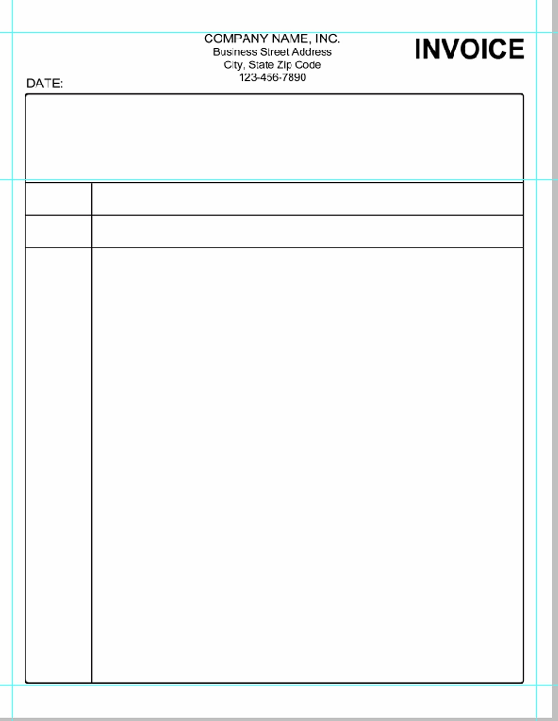 Free Printable Blank Invoice Sheet Templates Word Template Sample Uk - Free Printable Blank Invoice Sheet