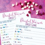 Free Printable Bridal Shower Name The Emoji Game   Emoji Bridal Shower Game Free Printable