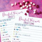 Free Printable Bridal Shower Name The Emoji Game   Emoji Bridal Shower Game Free Printable