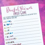 Free Printable Bridal Shower Name The Emoji Game   Free Printable Bridal Shower Games And Activities