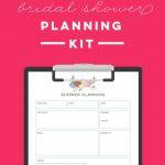 Free Printable Bridal Shower Planning Kit   To Do List, Timeline   Free Bridal Shower Printables