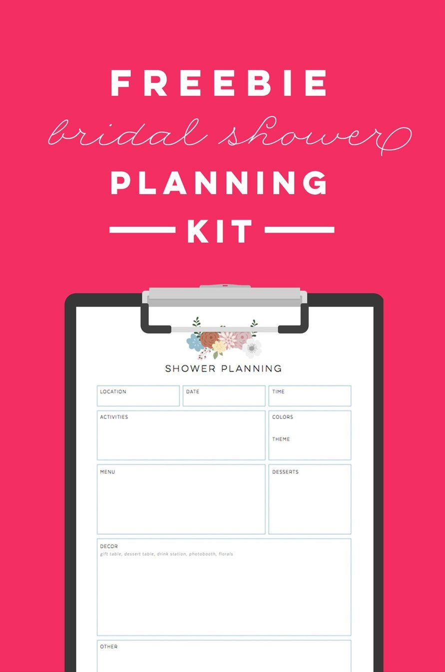 Free Printable Bridal Shower Planning Kit - To Do List, Timeline - Free Bridal Shower Printables
