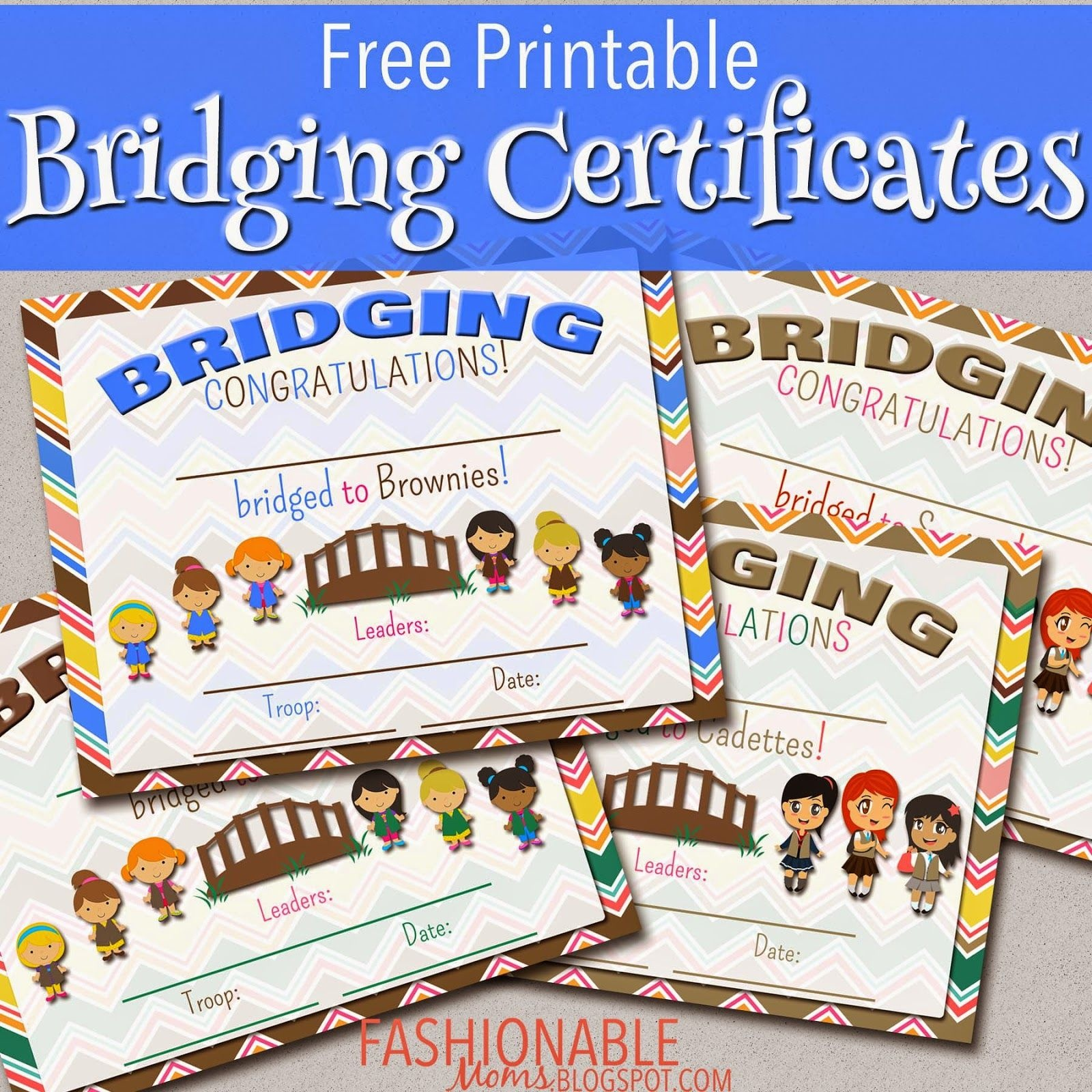 Free Printable Bridging Certificates | Girl Scouts | Girl Scout - Free Bridging Certificate Printable