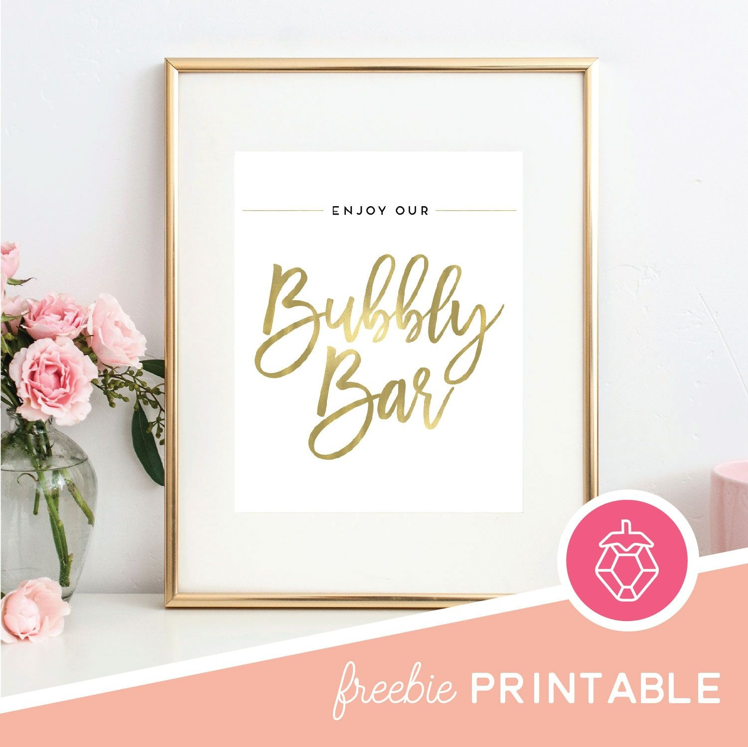 Free Printable - Bubbly Bar Sign | Party | Bubbly Bar, Bar Signs - Free Sangria Bar Sign Printable