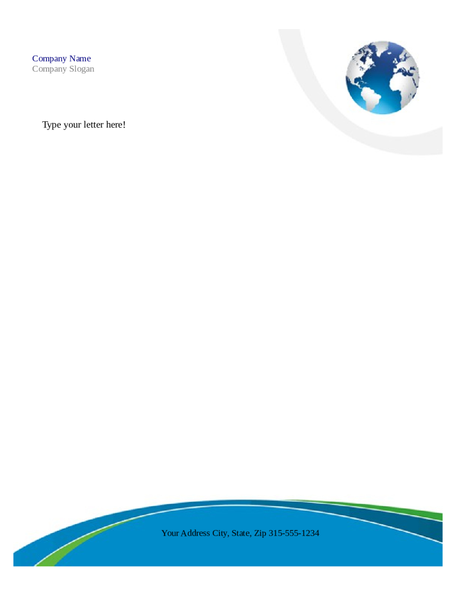 Free Printable Business Letterhead Templates Microsoft Word - Free Printable Letterhead Templates