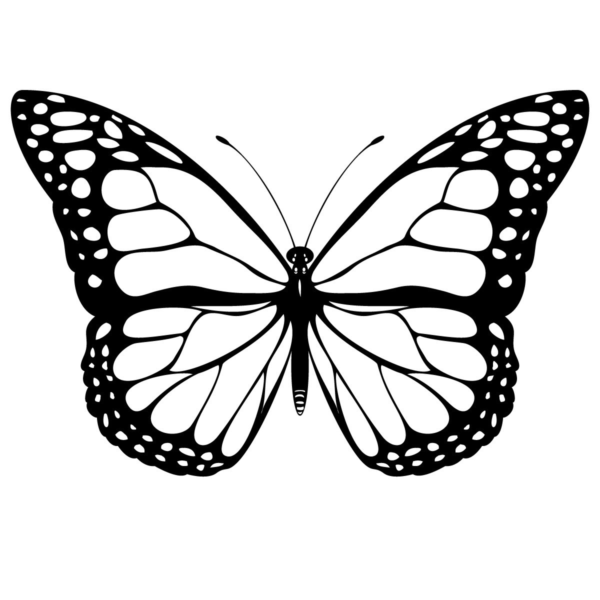 Free Printable Butterfly Coloring Pages For Kids - Butterfly Free Printable Coloring Pages