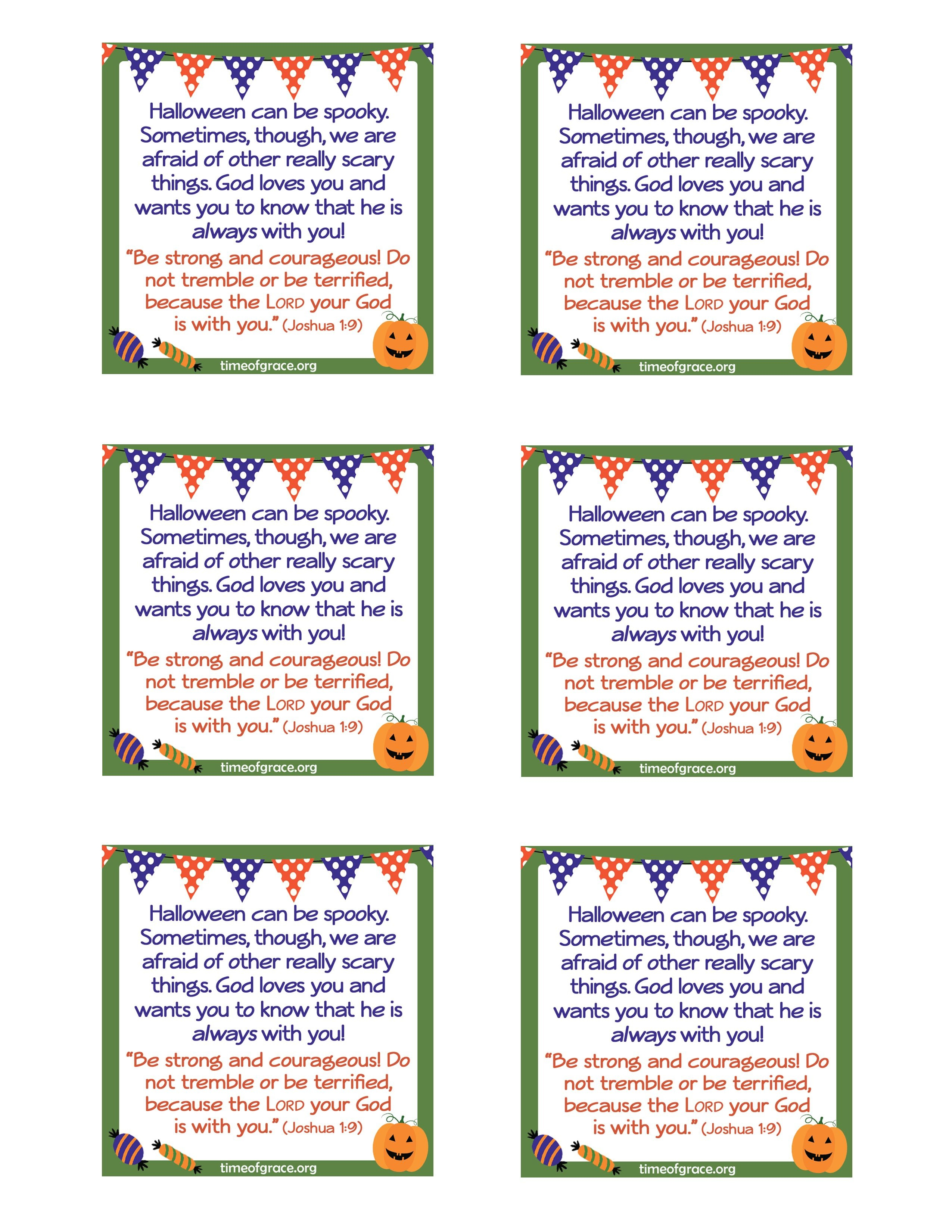 Free #printable Cards With A Message And Scripture To Hand Out With - Free Printable Halloween Candy Coupons