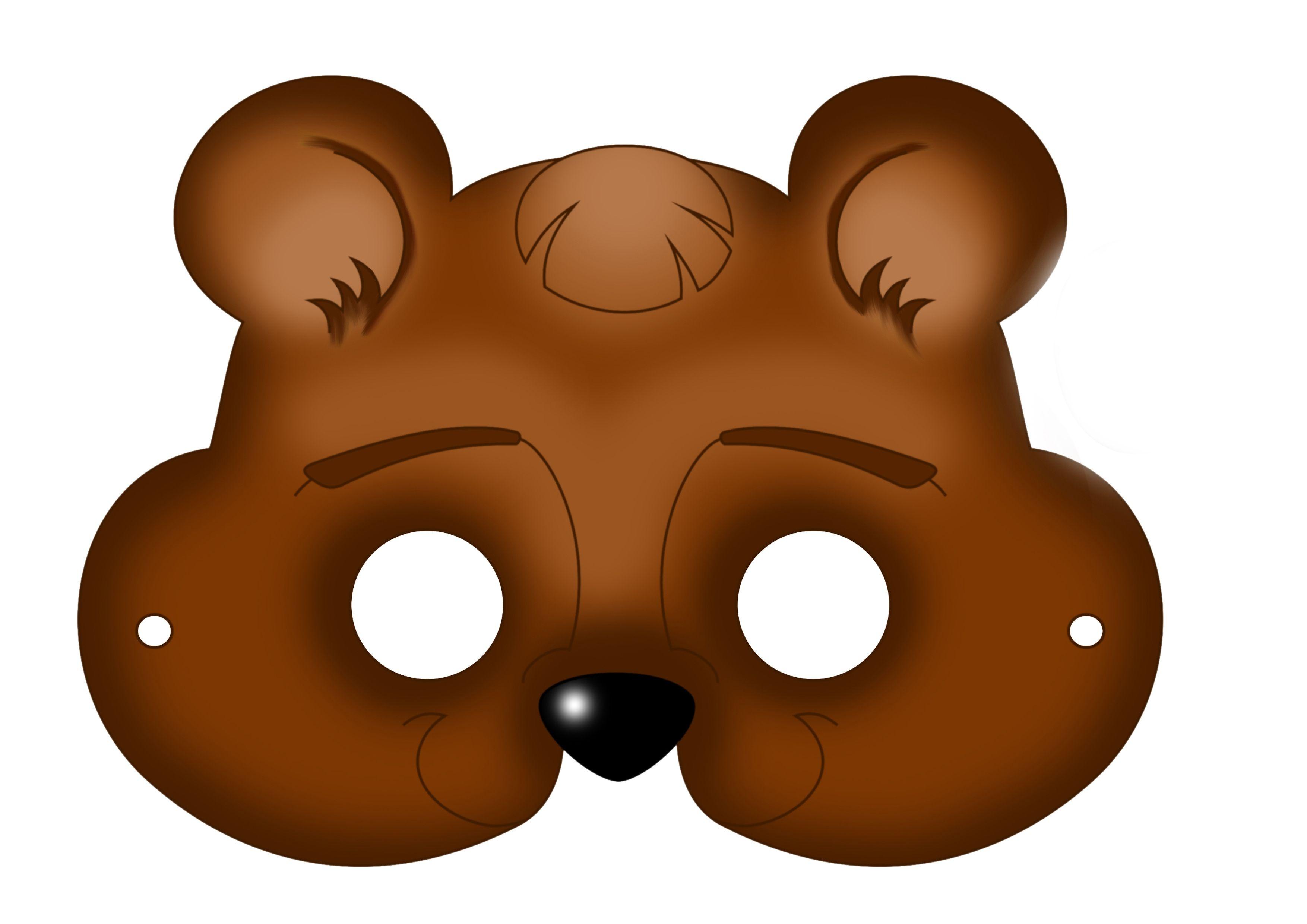 Free Printable Carnival Masks For Kids. | Ideas | Bear Mask, Mask - Free Printable Chipmunk Mask