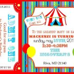 Free Printable Carnival Ticket Invitations | Projects To Try   Free Printable Ticket Invitation Templates