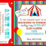 Free Printable Carnival Ticket Invitations   Projects To Try   Free Printable Ticket Invitation Templates