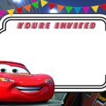 Free Printable Cars 3 Lightning Mcqueen Invitation Template | Go   Free Printable Cars Water Bottle Labels