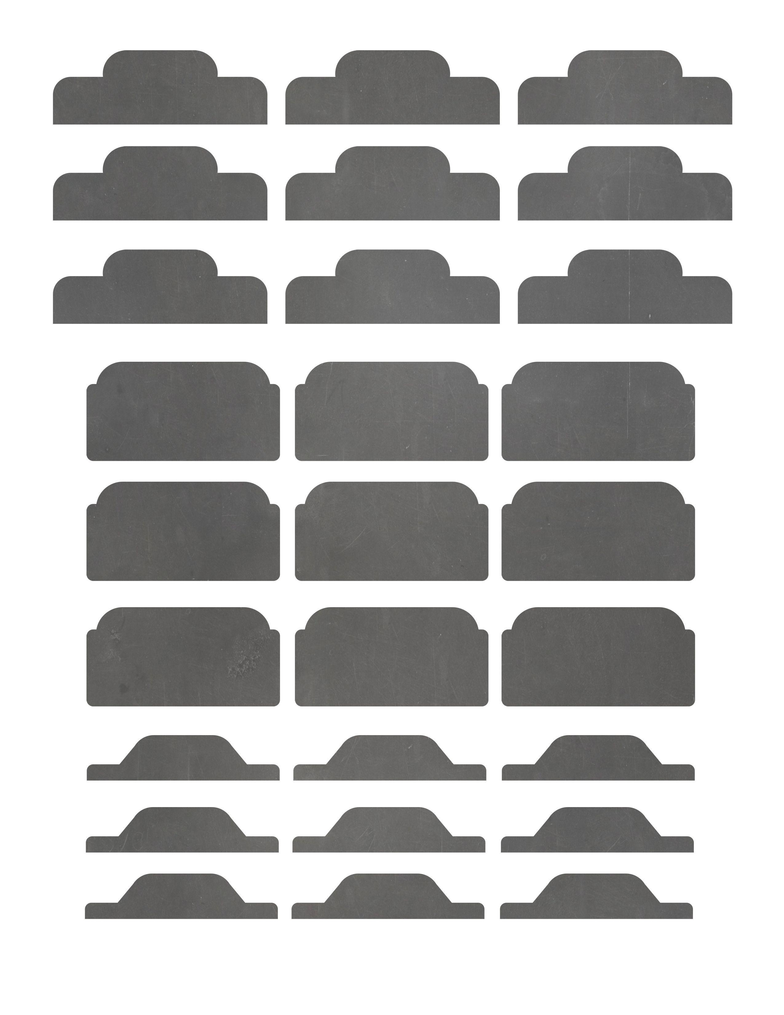 Free Printable Chalkboard Divider Tabs For Binders And Organizers - Free Printable Tabs For Binders