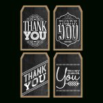 Free Printable Chalkboard Thank You Tags | The Cottage Market   Free Printable Thank You Tags