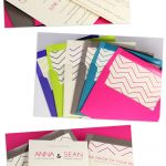 Free Printable Chevron Design Envelope Liner With Invitation   Free Chevron Printable Invitations