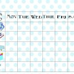 Free Printable Chore Chart   Free Printable Preschool Job Chart Pictures