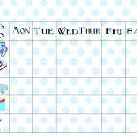 Free Printable Chore Chart   Free Printable Preschool Job Chart Pictures