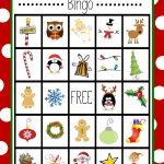 Free Printable Christmas Bingo Game | Christmas | Christmas Bingo   20 Free Printable Christmas Bingo Cards