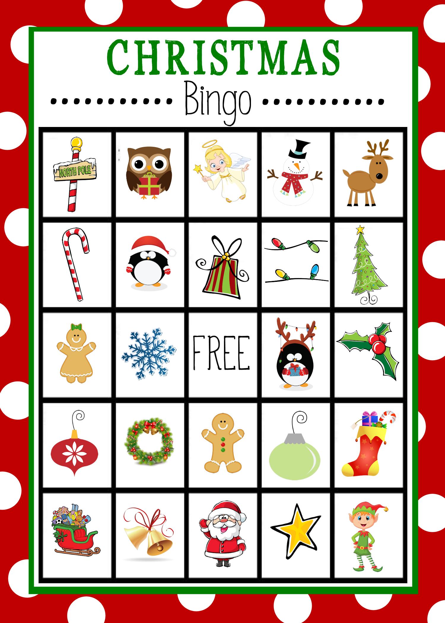 Free Printable Christmas Bingo Game | Christmas | Christmas Bingo - 20 Free Printable Christmas Bingo Cards