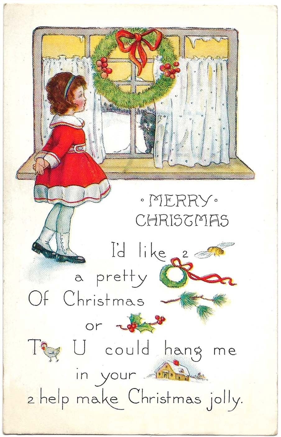 Free Printable Christmas Cards - From Antique Victorian To Modern - Free Printable Xmas Cards