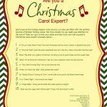 Free Printable Christmas Carol Quiz   American Greetings   Free Printable Christmas Song Quiz