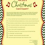 Free Printable Christmas Carol Quiz   American Greetings   Free Printable Lyrics To Christmas Carols
