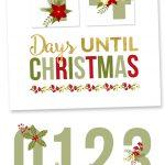 Free Printable Christmas Countdown   Yellow Bliss Road   Christmas Countdown Free Printable