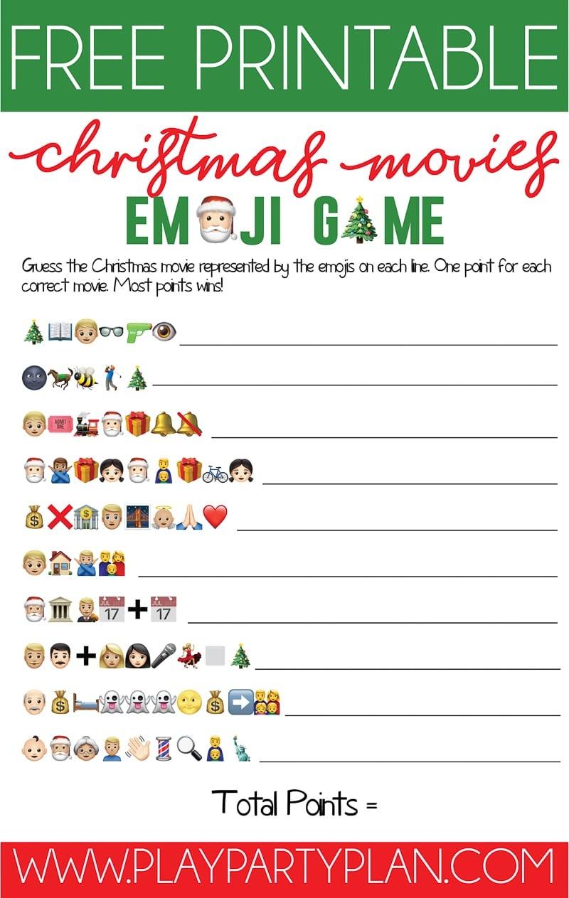 Free Printable Christmas Emoji Game - Play Party Plan - Free Printable Christmas Games