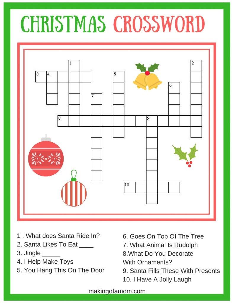 Free Printable Christmas Games - Making Of A Mom - Free Printable Christmas Games
