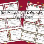 Free Printable Christmas Gift Certificates: 7 Designs, Pick Your   Free Printable Gift Certificate Christmas