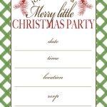 Free Printable Christmas Party Invitation | Crafts | Christmas Party   Christmas Party Invitation Templates Free Printable