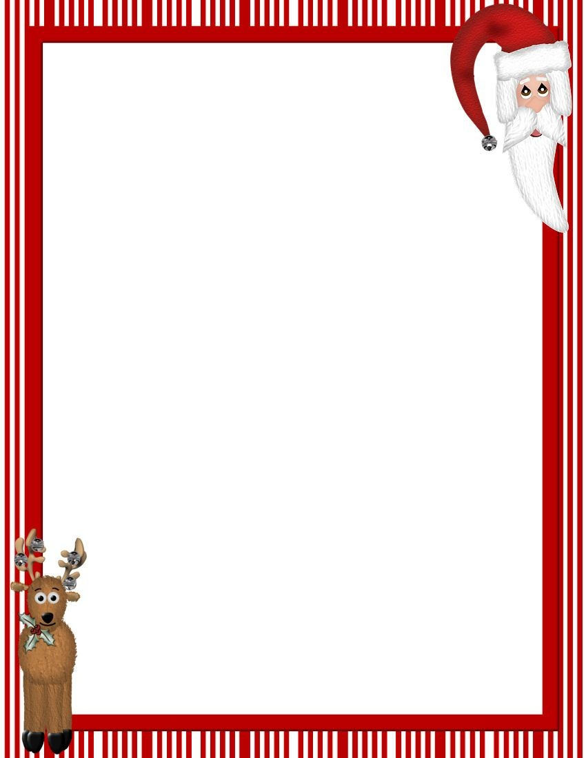 Free Printable Christmas Stationary Borders | Christmasstationery - Free Printable Christmas Border Paper