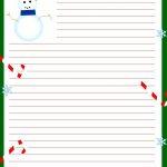 Free Printable Christmas Stationary | Stationary | Christmas 2019   Free Printable Snowman Stationery