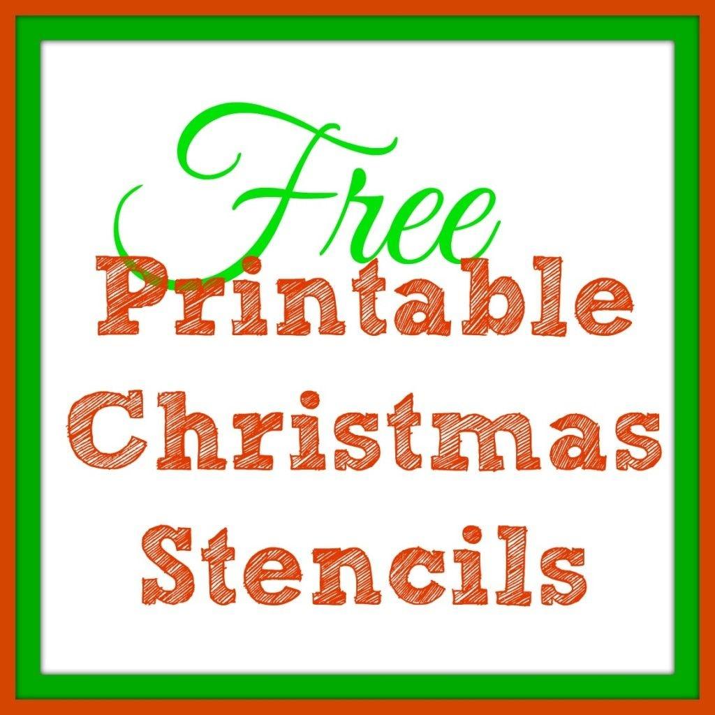 Free Printable Christmas Stencils – Christmas Tree Templates & Santa - Merry Christmas Stencil Free Printable
