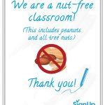 Free Printable Classroom Signs | Signup   Printable Nut Free Signs