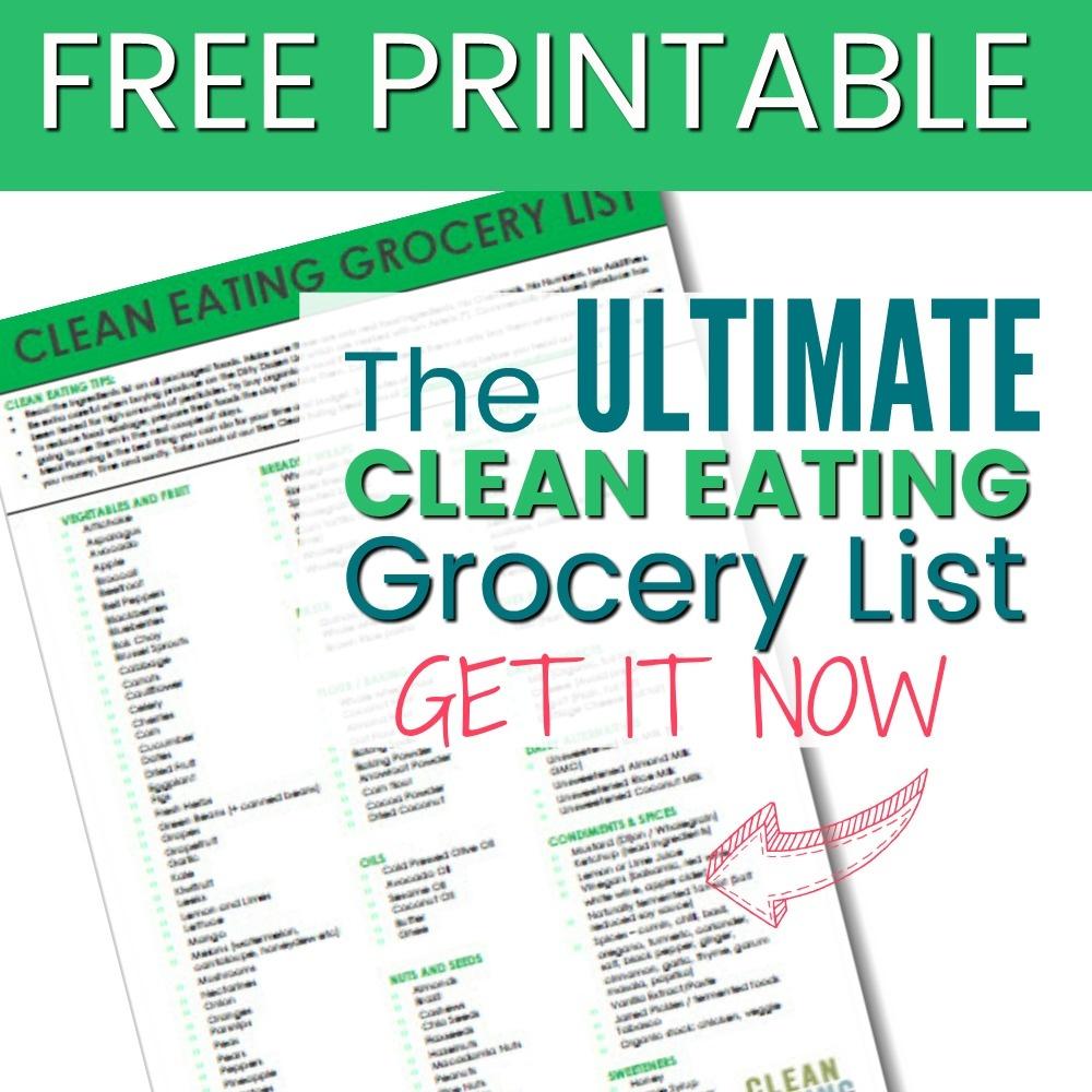 Free Printable: Clean Eating Grocery List - Clean Eating With Kids - Free Printable Clean Eating Grocery List