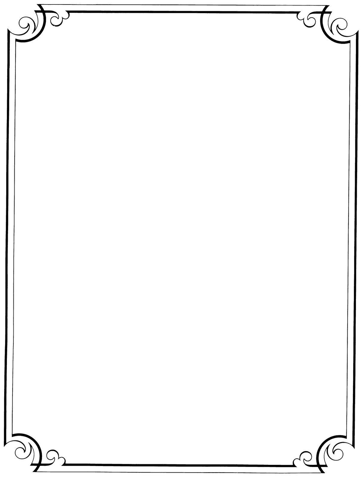 Free Printable Clip Art Borders |  : Free Vintage Clip Art - Free Printable Borders For Cards