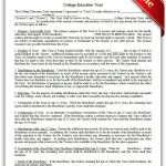 Free Printable College Education Trust | Sample Printable Legal   Free Printable College Degrees