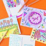 Free Printable Coloring Postcards   Studio Diy   Free Printable Postcards