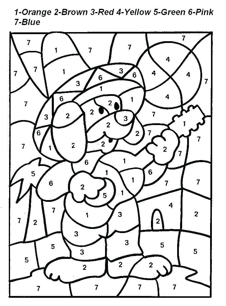 Free Printable Colornumber Coloring Pages - Best Coloring Pages - Color By Number Free Printables