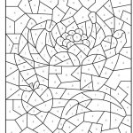 Free Printable Colornumber Coloring Pages For Adults | Color   Free Printable Color By Number For Adults