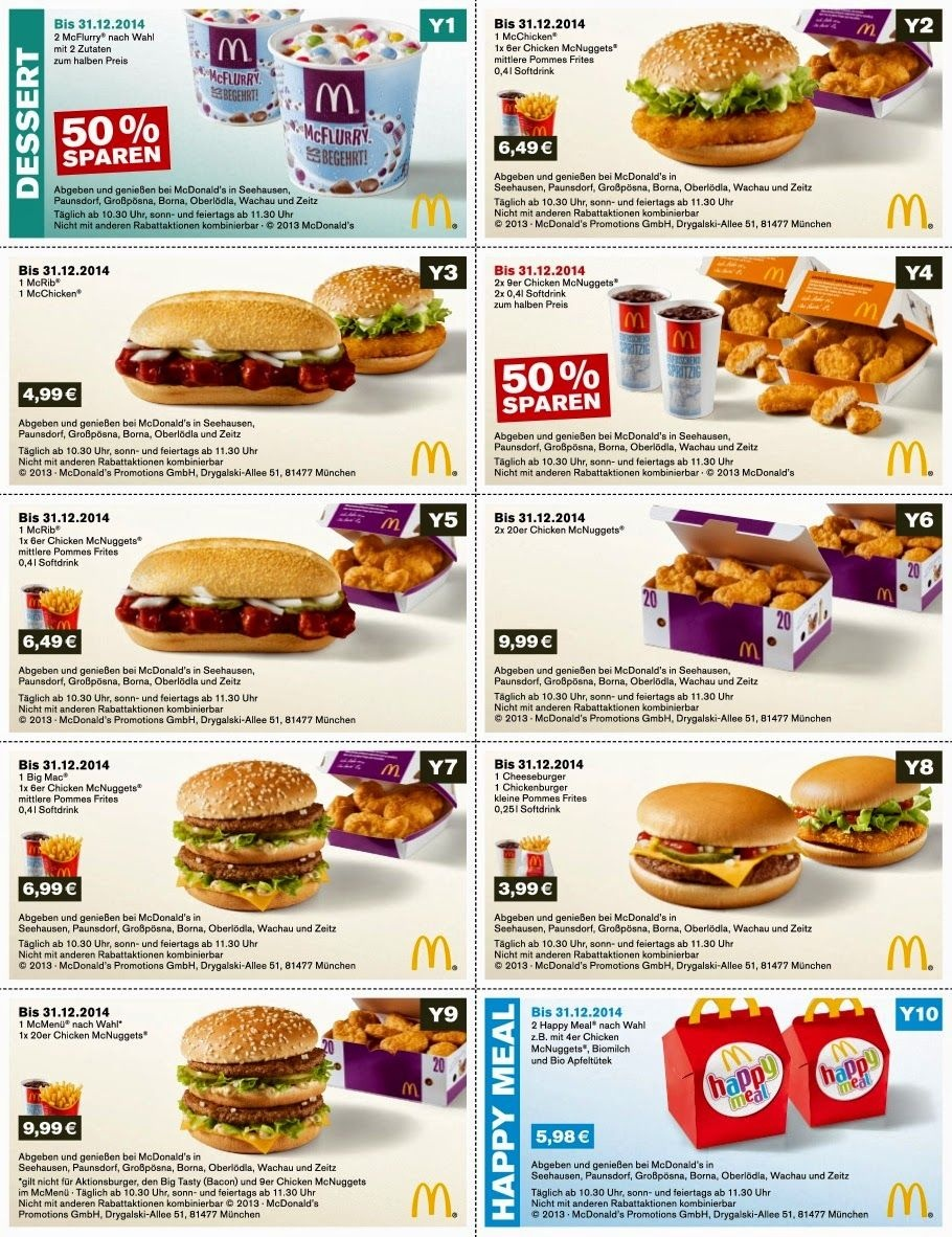 Free Printable Coupons: Mcdonalds Coupons | Fast Food Coupons - Free Online Printable Fast Food Coupons