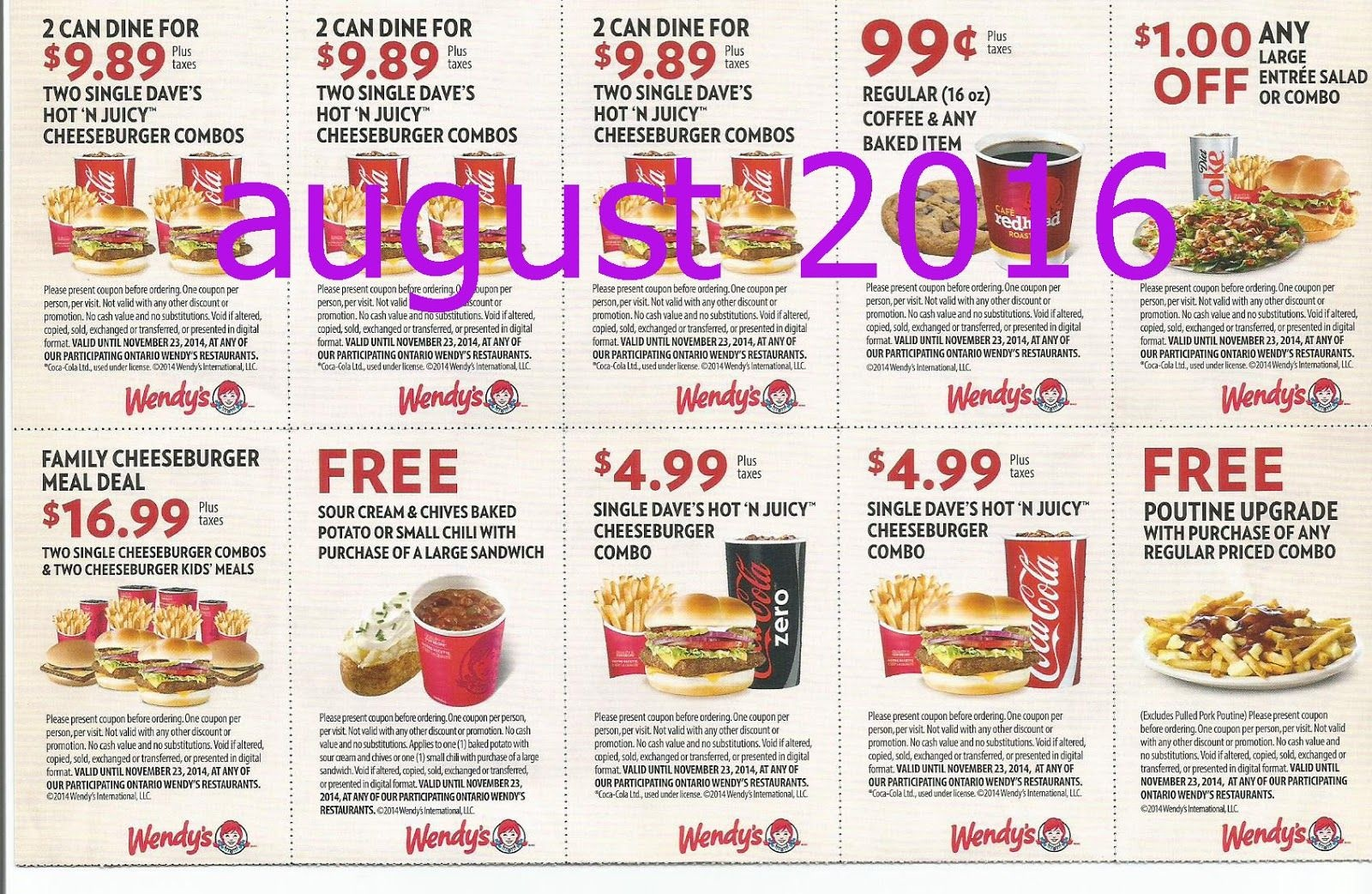Free Printable Coupons: Wendys Coupons | Fast Food Coupons | Wendys - Free Printable Coupons Ontario