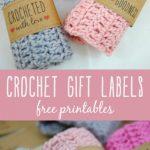 Free Printable Crochet Gift Labels   Crocheting   Crochet Patterns   Free Printable Crochet Patterns