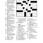 Free Printable Crossword Puzzles For Adults | Puzzles Word Searches   Free Easy Printable Crossword Puzzles For Adults