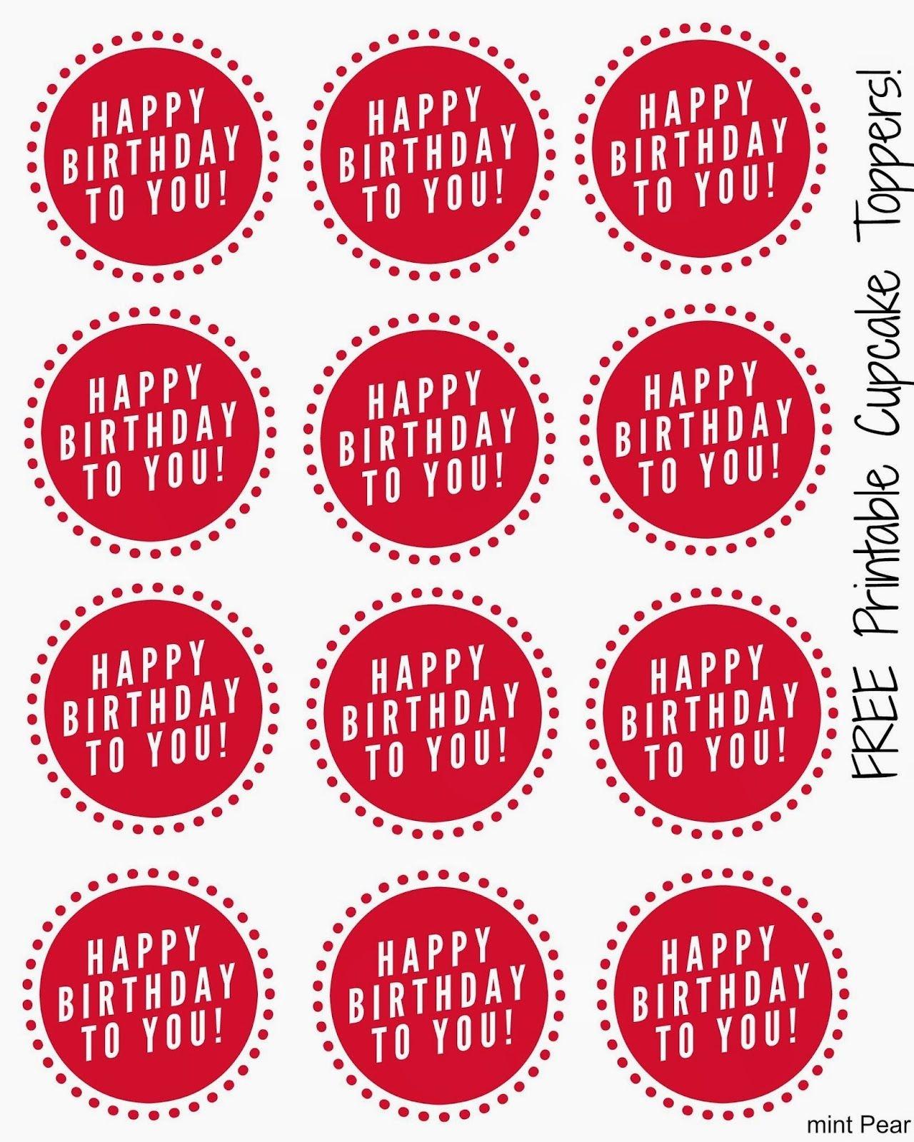 Free Printable Cupcake Toppers   Free Stuff!   Cupcake Toppers Free - Free Printable Cupcake Toppers