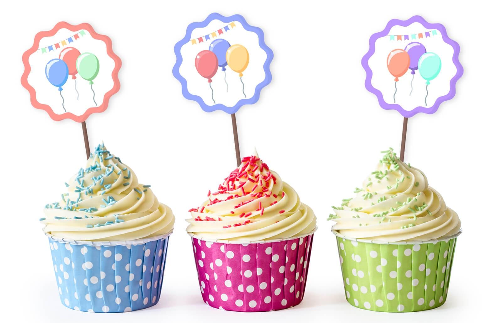 Free Printable Cupcake Toppers   Lovetoknow - Free Printable Cupcake Toppers