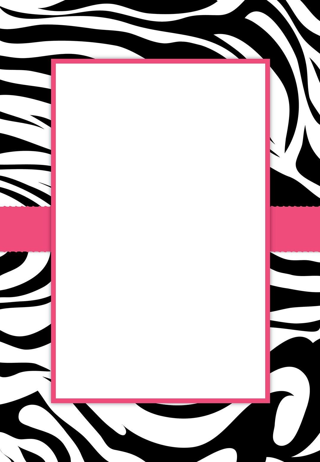 Free #printable Customizable Zebra Stripes #party Invitation | Party - Free Printable Pink Zebra Baby Shower Invitations